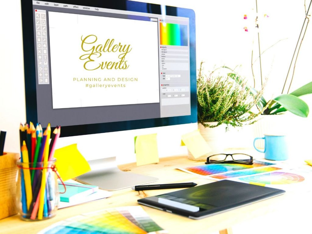 Gallery Events planning desk