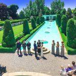 Wedding Ceremony in the Formal Garden Parkwood Estate
