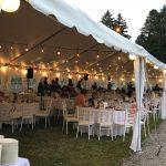 White Frame Tent Parkwood Estate Formal Garden